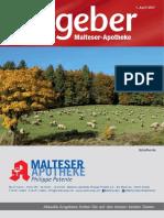 Ratgeber aus Ihrer Malteser-Apotheke – April 2017