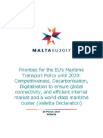 EU Ministerial Declaration on Maritime Policy to 2020
