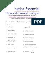 Matemática Essencial_ Fórmulas de Derivadas e Integrais