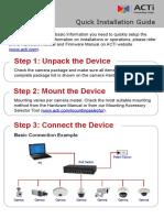 Camera Quick Installation Guide AC 20140530