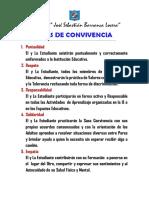 Normas de Convivencia de la Institucion Educativa N° 1156  JSBL-Ccesa007