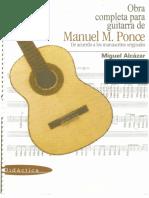 Manuel Ponce - Miguel Alcazar