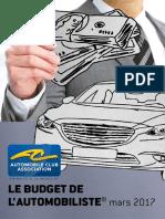 Budget de L'Automobiliste 2017