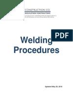 API Welding Procedures