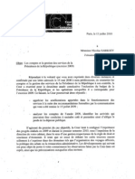 Rapport Gestion 2009 Presidence de La Republique 0710