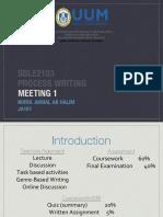 Meeting 1 SBLE2103