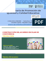 Construcción del Acuerdo Escolar de Convivencia Nivel Inicial y Primario