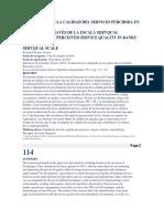 Evaluación de La Calidad Del Servicio Percibida en Entidades