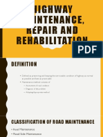 Highway Maintence,Repair and Rehabilitation