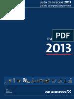 BGA ListaPreciosGrundfos2013 FULL