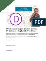 Divi Theme de Elegant Themes La Guía Definitiva de Esta Plantilla WordPress