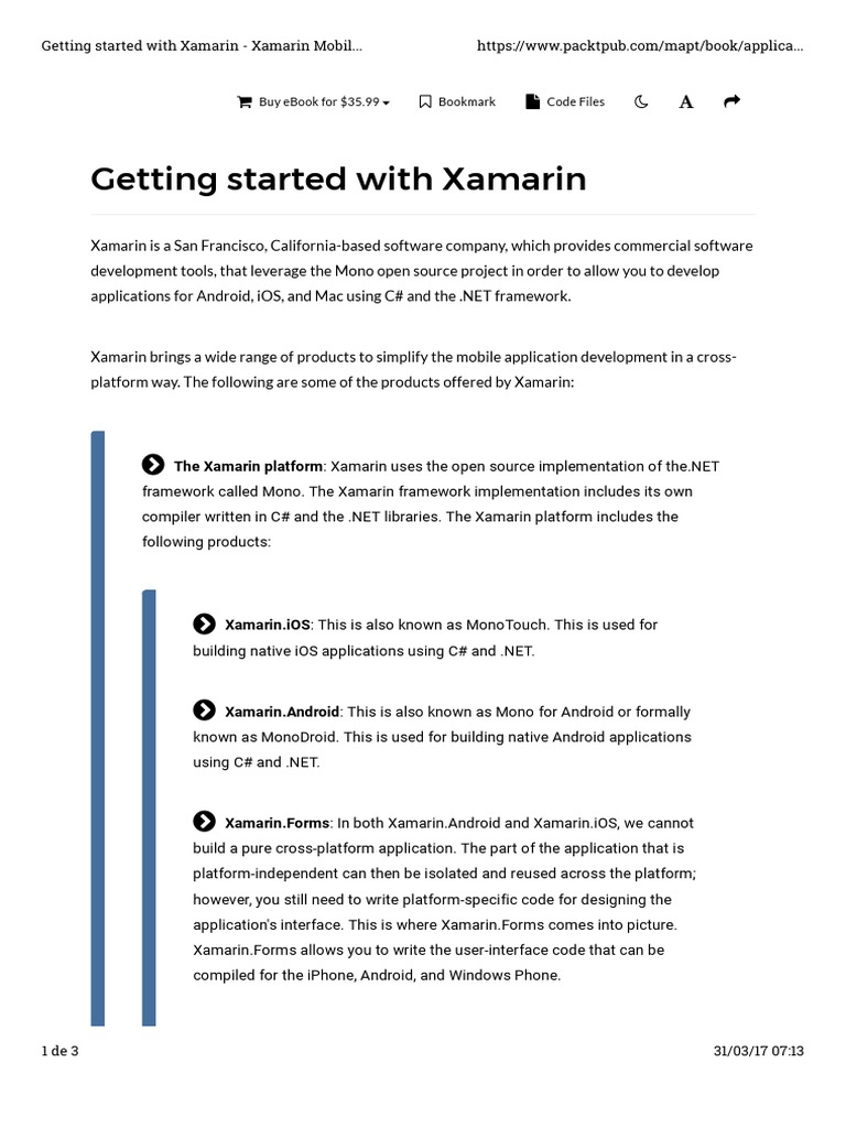 Chapter 2  the Xamarin android Architecture - A - Getting
