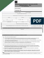 Formulario y Formatos Proyecto de Evaluación Arqueológica