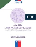 Guía Postulación de Proyectos Distribución Audiovisual 2016