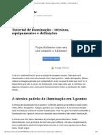 Tutorial de Iluminação – Técnicas, Equipamentos e Definições – Klebermota.eti
