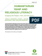 Local Humanitarian Leadership and Religious Literacy