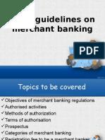 sebi guideline on merchant banking ppt