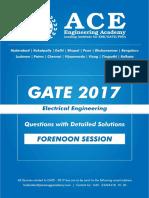 EE GATE 2017 Forenoon-Sesstion-1