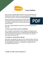 Career Guidance| Career Help |Online Careers Guidance