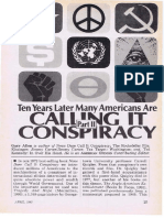 Ten Years Later Many Americans Are Calling It Conspiracy by Gary Allen
