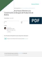 La Evaluación de la Fauna Silvestre y su Conservación en Bosques de Producción de Bolivia
