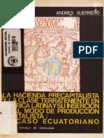 Guerrero Andrés - La Hacienda Precapitalista y La Clase Terrateniente