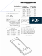 Wireless electronic communications card (US patent D559256)