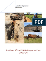 El Niño Response Plan FAO south AFRICA