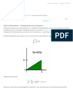 Volume by Rotation Using Integration | Wyzant Resources