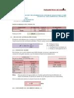 1.-Parametros de Reservorio Molino Pata