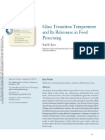 Glass Transition Temperature and Its Relevance in Food Processing