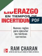 Liderazgo en Tiempo de Incertid - Ram Charam