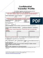 NAM UCD Travel Profile Form