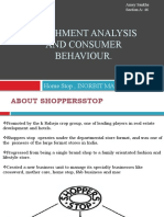 Catchment Analysis and Consumer Behaviour