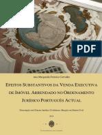 Efeitos Substantivos Da Venda Executiva de Imovel Arrendado No Ordenamento Juridico Portugues Actual