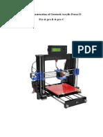 Acrylic I3 Pro B 3D Printer Building Instruction