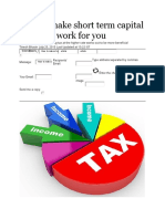 How to Make Short Term Capital Gains Tax Work for You