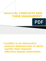 Hospital Conflicts and Their Management-A