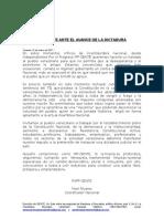 IPP-GENTE ANTE EL AVANCE DE LA DICTADURA (Comunicado)