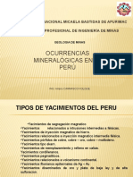 ocurrencias mineralogicas