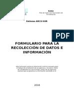 Formulario Para La Recolección de Datos e Información 2016 (1)