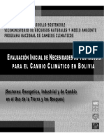 Evaluación Inicial de Necesidades de Tecnología para el Cambio Climático en Bolivia