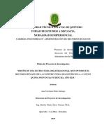 """""""Diseño de Una Estructura Organizacional Que Optimice El Recurso Humano de La Constructora Imagentech s.a., Canton Quito, Provincia Pichincha, Año 2015."""""""