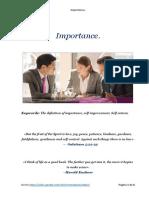 Importance - Leadership