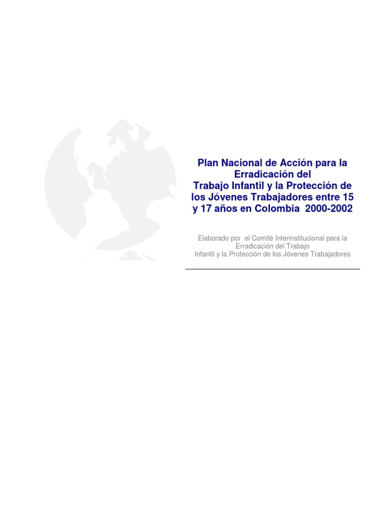 De Sol A Sol Plan Nacional De Accion Para La Erradicacion Del Ti Y