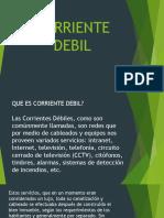Clase 1 Corrientes Debiles