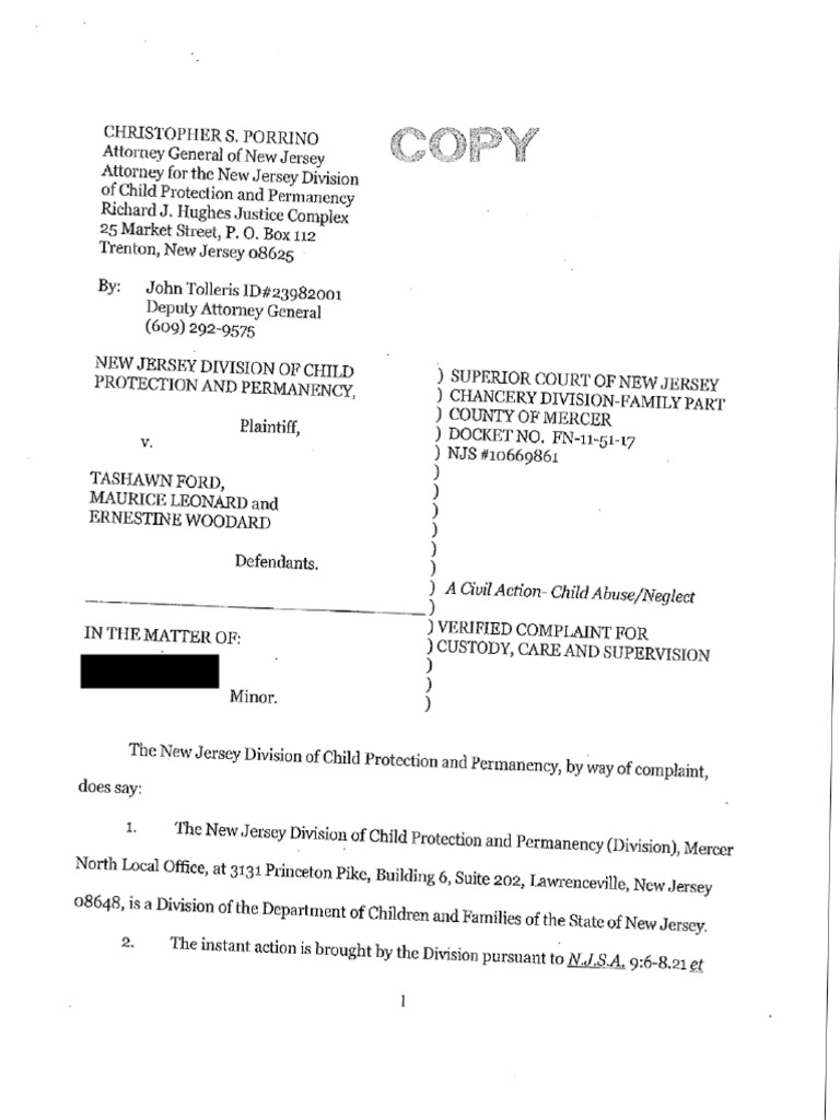 Verified Complaint Leonard Ford Redacted