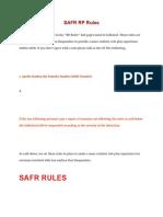SAFR RP Rules