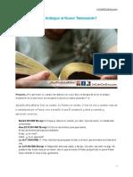 ¿Cambió Dios del Antiguo al Nuevo Testamento?
