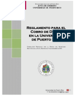 Reglamento Para Cobro de Deuda UPR. 17/diciembre/2011